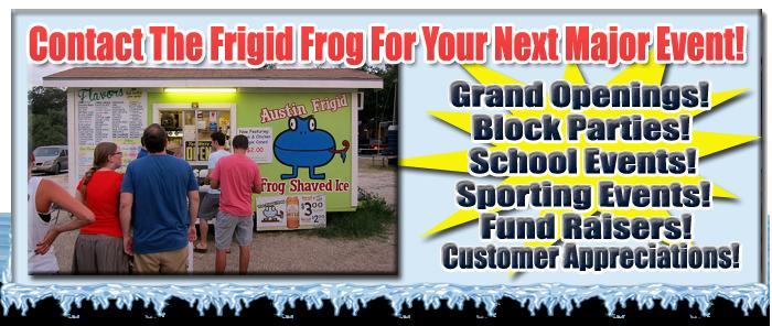 Frigid Frog Parties & Events!